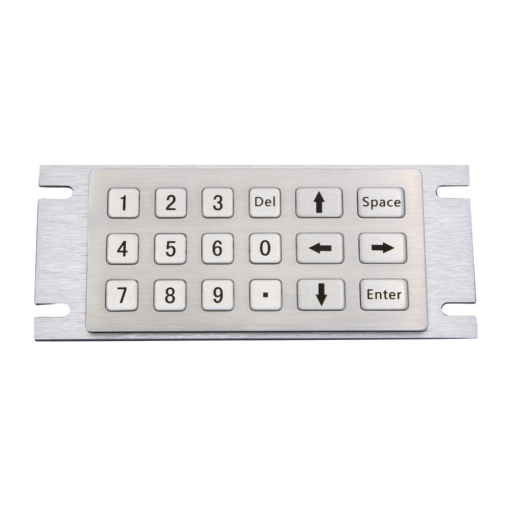 Kiosk Metal Rugged Keyboard with 18 Keys Numberic Keypad Vandal Proof 304 Metal Stainless Steel Custom Vending Machine Keypad top designed 1pcs t handle vending machine locks snack vending machine lock tubular locks with 3pcs keys
