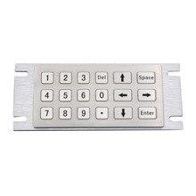 Киоск прочный металл клавиатура с 18 клавишами Numberic Антивандальная 304 Металл Нержавеющаясталь пользовательские торговый автомат клавиатуры