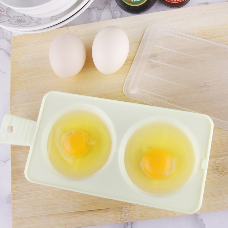 2018 1Pcs Egg Tools Two Egg Poacher Sandwich Breakfast Plastic Material Put Microwave Oven Kitchen Cooking Accessories Gadgets