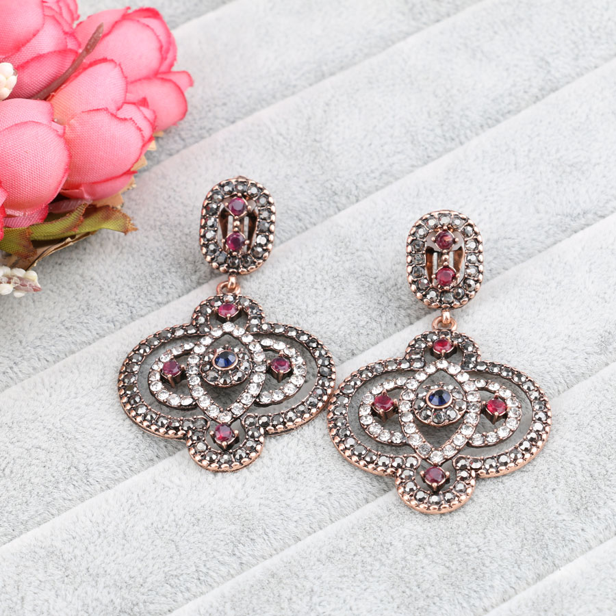 earrings indian water fashion simple item jewellery green resin jewelry ruby from wholesale design in drop women earring sale for
