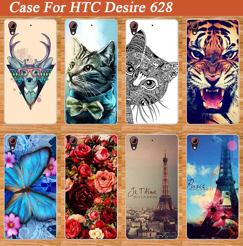 High quality New stylish mobile phone case protective case for HTC Desire 628 Dual Sim Painting PC hard Back cover for HTC 628