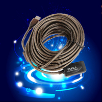 2016 High Speed Active 30Ft 30F USB 2 0 Extension Cable Male To Female With Booster