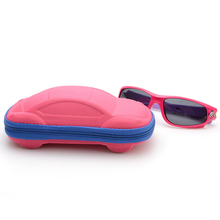 box 2017 Brand New Children Car Glasses Case Box Cute Glasses Bag Baby Toy Box Stationery Pencil Cases Kids Sunglasses Box(China (Mainland))