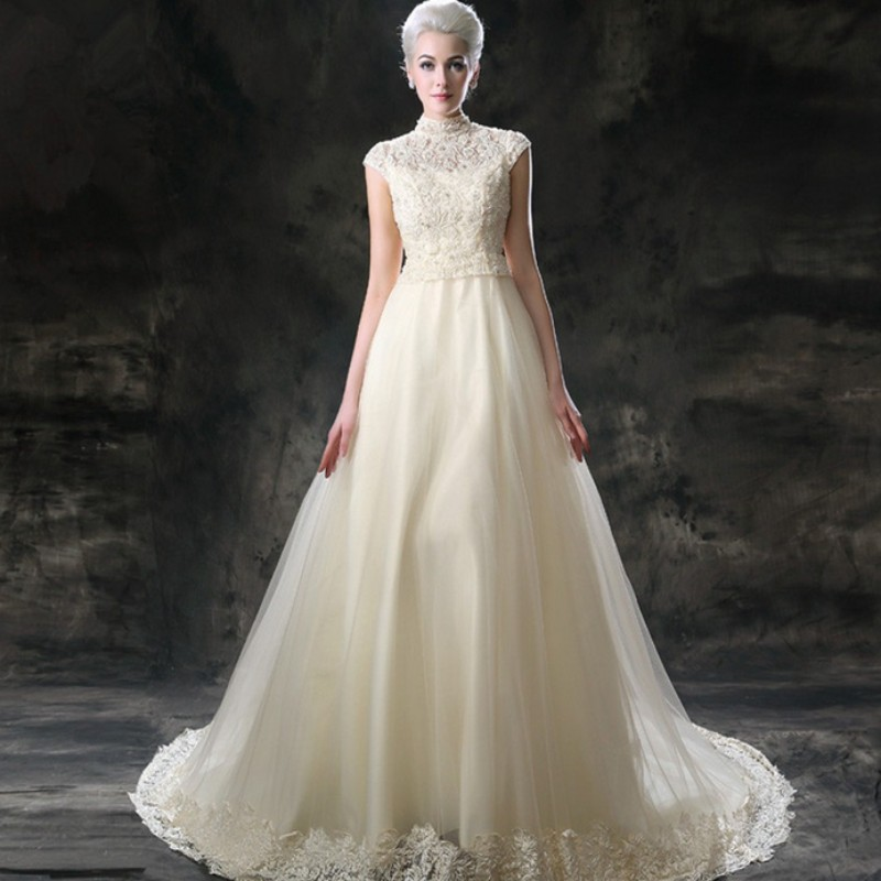 2015 Luxury Wedding Gowns Cathedral / Royal Train Wedding