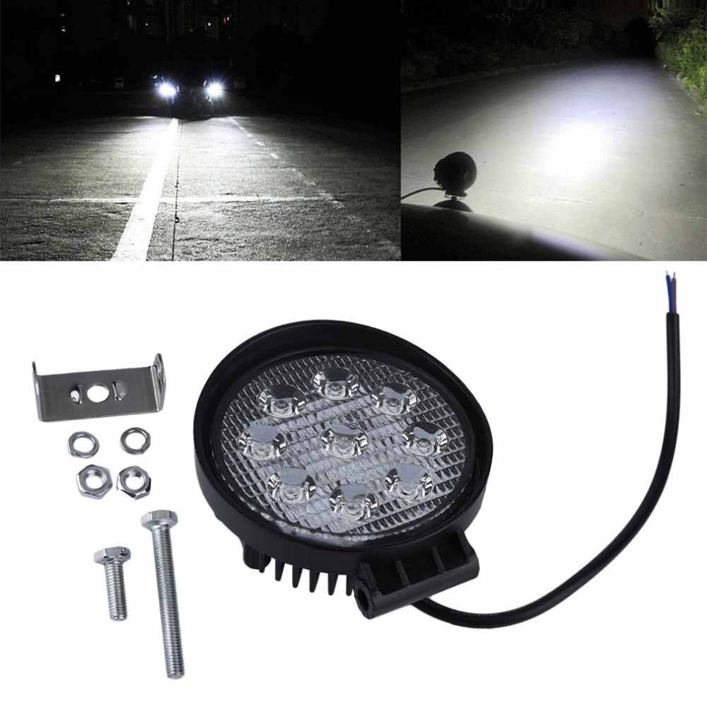 27W 12V 24V 10-30V DC Flood Beam Led Bulbs 60 degree Work Light Lamp Portable Bar Boat Tractor Truck Off-road SUV