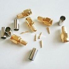 Cabo macho sma rg58, conector reto de cabo rf lmr195 rg400 com 10 peças