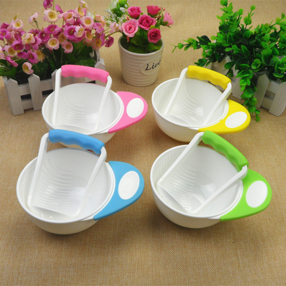 Baby Food Mills And Container Bowl Set Manual Grinding DishesBaby Fruit Food Containers Bowls Baby Food Maker Tool Feeding Bowl