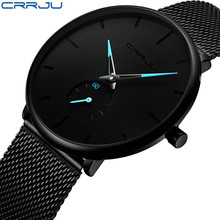 2019Fashion Mens Watches Top Brand Luxury Quartz Watch Men Casual Slim Mesh Steel Waterproof Sport Relogio Masculino