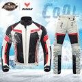 Духан летняя куртка для мотоцикла, мужская куртка для верховой езды + штаны для мотоцикла, костюм, дышащая сетчатая куртка, мото брюки, костю...