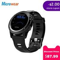 Microwear H1 Смарт часы Android 4,4 Водонепроницаемый 1,39 MTK6572 BT 4,0 3g Wifi GPS SIM для iPhone Smartwatch Для мужчин Носимых устройств