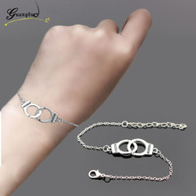 1Pcs Bronze/Silver Color Handcuff Shape Carved FREEDOM Bracelets & Bangles Couple Bracelet Valentine's Gift Fashion Jewelry
