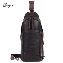 DANJUE font b Men b font Daypack Casual Genuine Leather font b Men s b font
