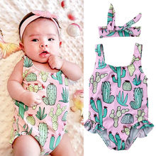 Toddler Baby Girl Swimsuit Swimwear Swimming One-piece Bikini Beachwear Summer Children Bathing Suit недорого