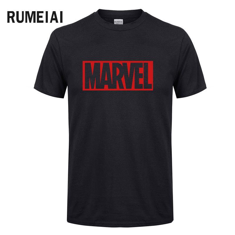 2018 new summer Marvel men t shirt short sleeve 100% cotton s