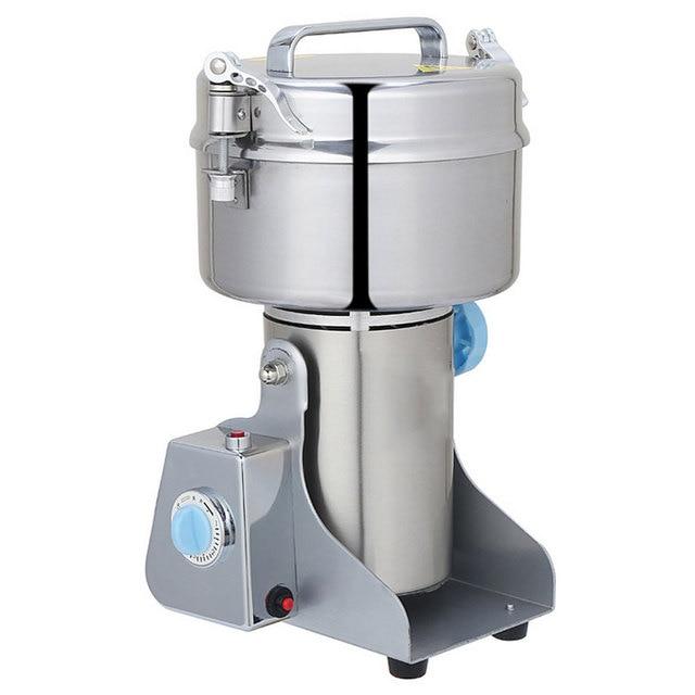 400G Capacity Swing Herb Grinder/ Food Powder Grinding Machine/ Coffee  Grinder, Home Type Electric Flour Mill Stainless Steel