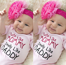 Newborn kids pink letters Romper Baby Girls Cotton Romper Jumpsuit Sleepsuit Outfits Clothes