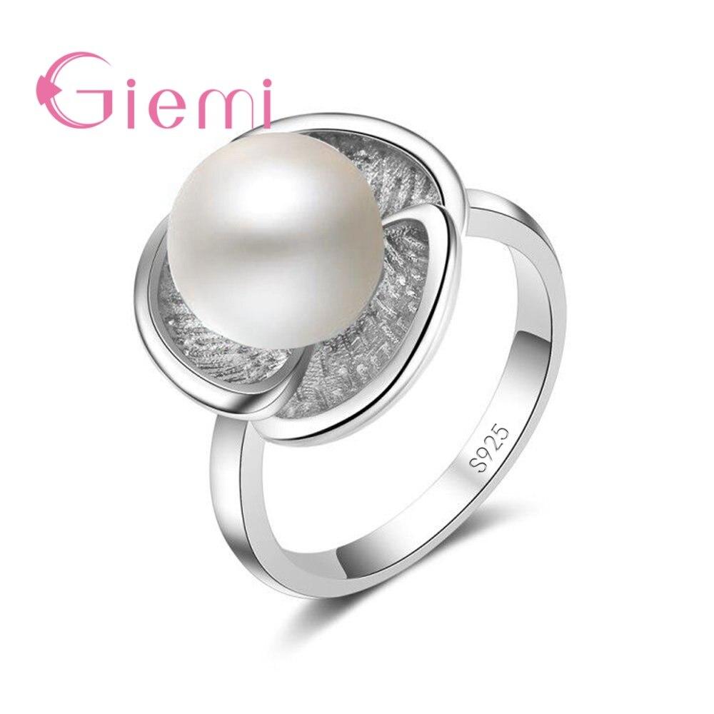 Классические 2 цвета жемчужные кольца на палец для женщин, девушки, хорошие продажи, стерлинговые серебряные украшения со стразами, аксессуары Кольца      АлиЭкспресс