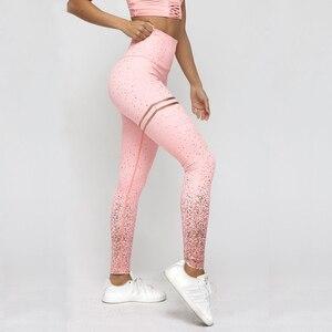 NORMOV New Hotsale Women Gold Print Leggings No Transparent Exercise Fitness Leggings Push Up Workout Female Pants(China)