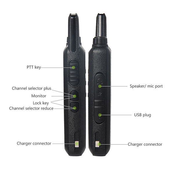 6pcs new WLN KD C1 Mini Wiress Walkie Talkie UHF Handheld Two Way Radio station Communicator Transceiver ham radio-in Walkie Talkie from Cellphones & Telecommunications    3