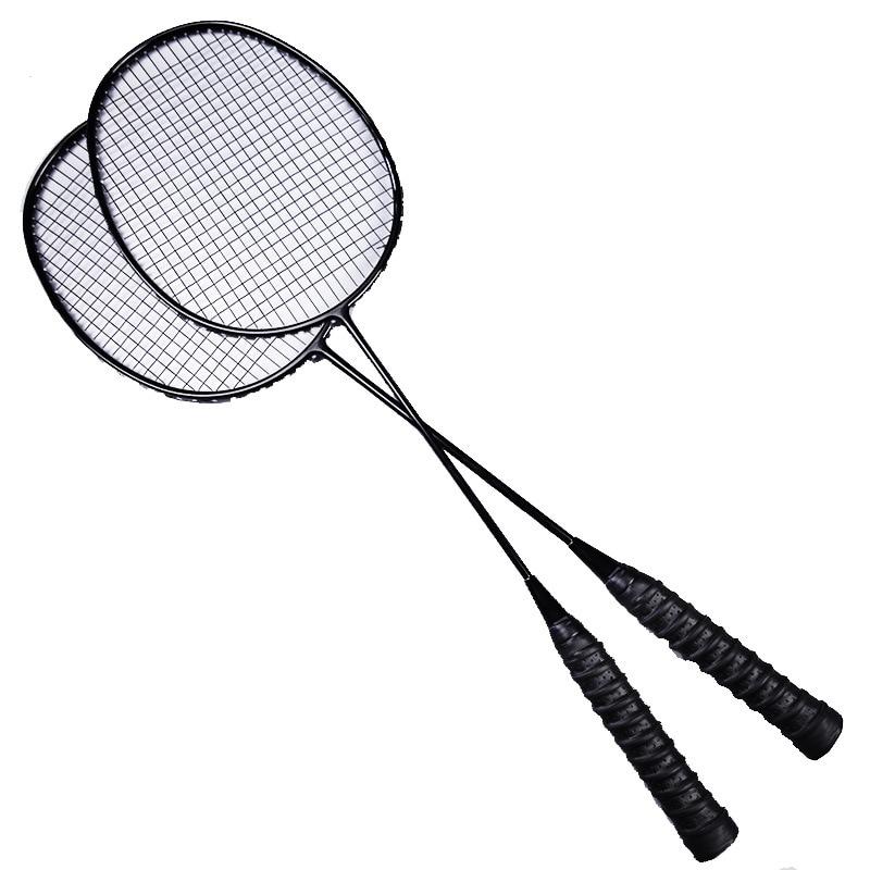 Raquette de Badminton en carbone Double tir fibre de carbone Offensive Ultra légère 2U Type Durable 3U