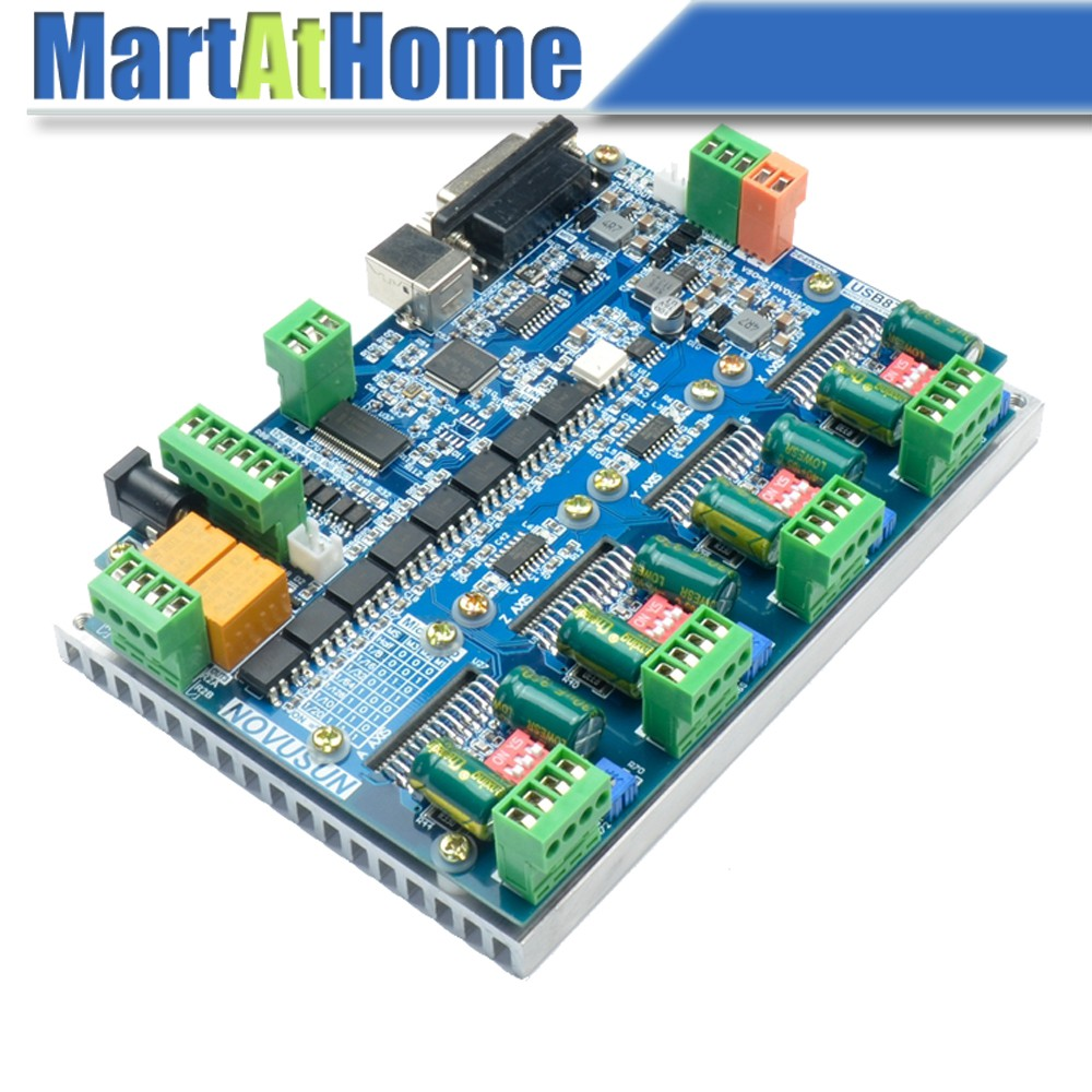 Free Shipping 2in1 USB MACH3 4 Axis Stepper Driver Board & Control Board 200KHz 4A Support MPG #SM888 @CF 3d printer start kits mother board rumba board with 6pcs drv8825 stepper driver and 6pcs heatsink with free shipping