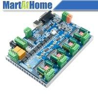 Free Shipping CNC 200 KHz 2in1 Card 4 Axis USB Mach3 TB6600 Stepper Motor Driver Controller