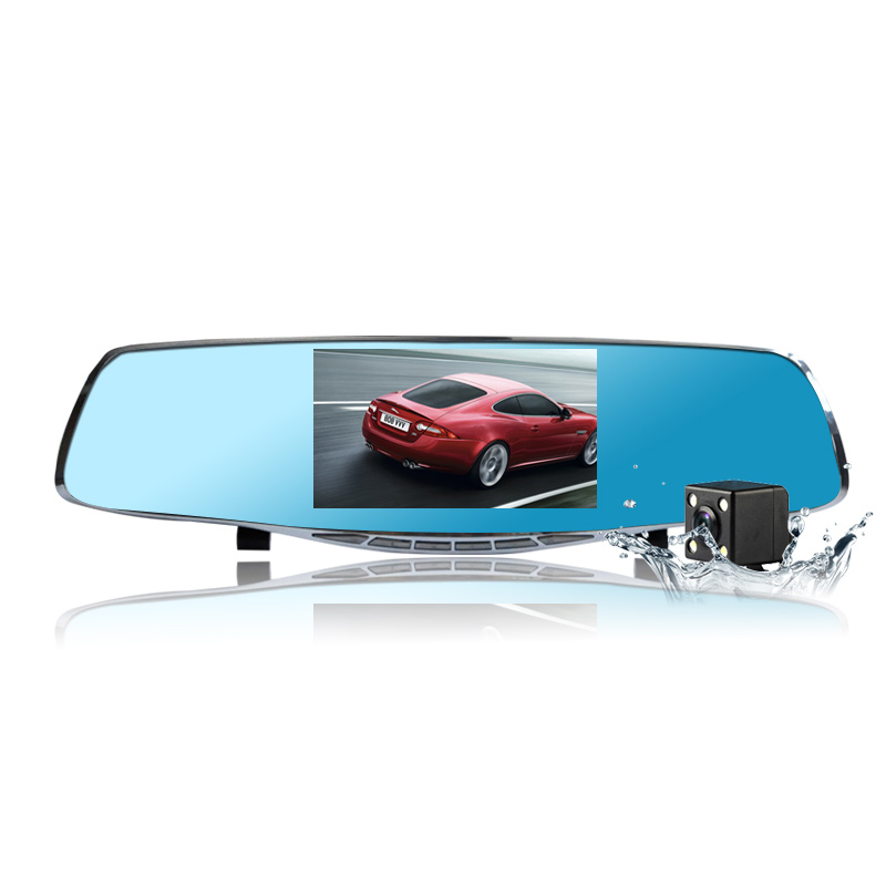 ФОТО Original Novatek Full HD 1080P Car Blue Rearview Mirror Camera Dvr Digital Video Recorder With Two Cameras Auto Dash Camara