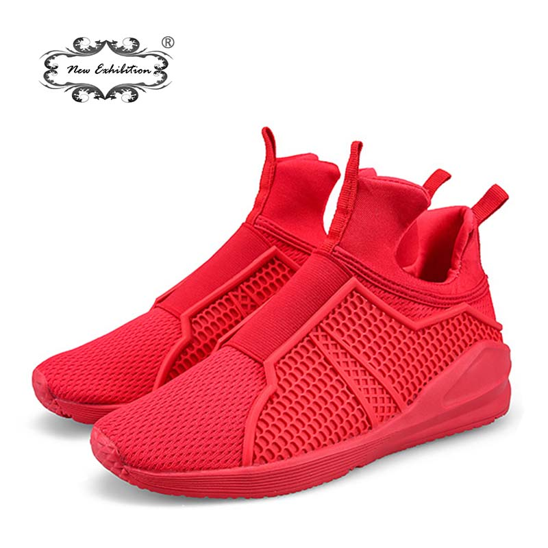 New exhibition Sneakers Brand Hot Sales Mens Casual Mesh Shoes Lightweight Fly Weave Breathable Fashion Men Walking shoes Hombre