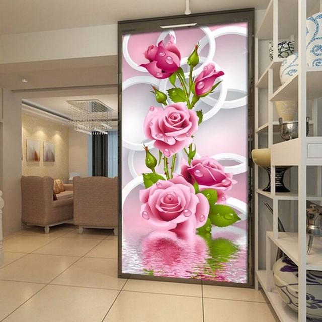5D Mosaico Diamante Rosa flores Ponto Cruz DIY Pintura diamante mosaico de diamantes adesivos de parede home decor Presente