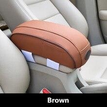 Универсальный автомобильный подлокотник, держатель для рук, кожаный чехол с памятью, хлопок, авто центральная консоль, увеличенная подкладка, подушка для хранения карт