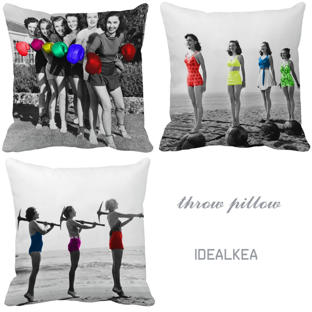 beach sushine youth girl energetic photos Print Custom Home Decor specialized Throw Pillow almofadas pillow unique sofa cushion