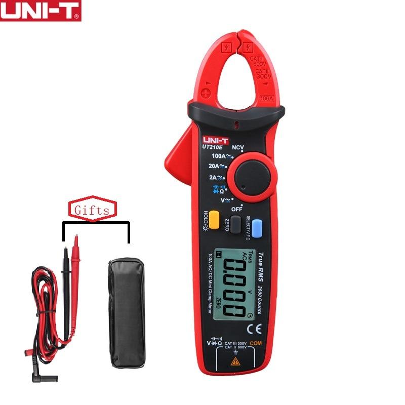 UNI T UT210E Mini Digital Clamp Meters AC DC Current Voltage Auto Range Capacitance Non Contact