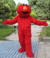 2017 Factory Direct Selling High Quality Long Fur Elmo Mascot Costume Character Costume Cartoon Costume Elmo