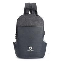 OZUKO Men Bag Multifunction Chest Bag For USB Charge Shoulder Crossbody Bag Fashion Casual Messenger Bag Waterproof Chest Pack