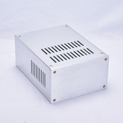 BZ1610 Silver All aluminum heat dissipation chassis Amplifier Case Power supply housing DIY box 168mm*100mm*229mm