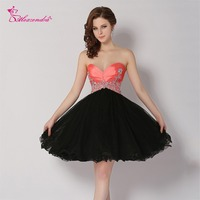 Alexzendra Sweetheart Pink Top A Line Organza Prom Dresses Plus Size Mini Short Party Dresses Customized