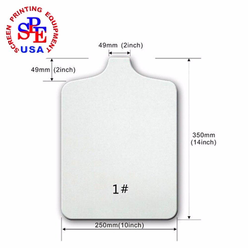 2 Pack Aluminum Silk Screen Printing Screens 25*35 CM Frame-160 White Mesh
