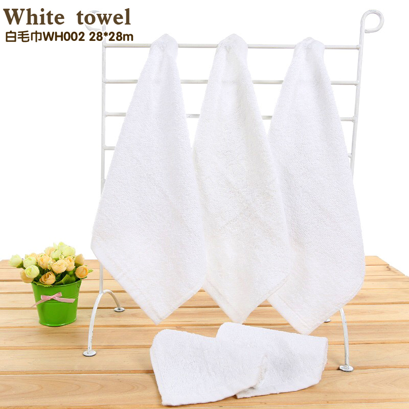 All cotton white 26*26 cm handkerchief The water is easy to clean small towel Clean cloth for men 1 bags, 10 pieces