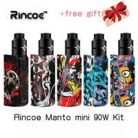 Kit de vape Rincoe Manto mini RDA 90W kit alimentado por 18650 celular cigarrillo electrónico kit de vapor tormenta eco pro mechman 228 w