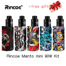 Kit vape Rincoe Manto mini RDA 90W kit powered by Single 18650 cell Electronic