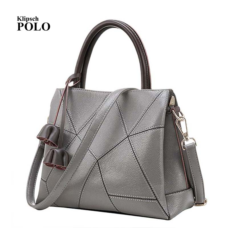 Best Special Offer New Bucket Quality Genuine Leather Women Handbags 2018 Brand Tote Bag Plaid Top-handle Famous Designer Totes 2015 special offer bolsas designer handbags high quality korean manufacturers selling new are cross printed student bag cheap