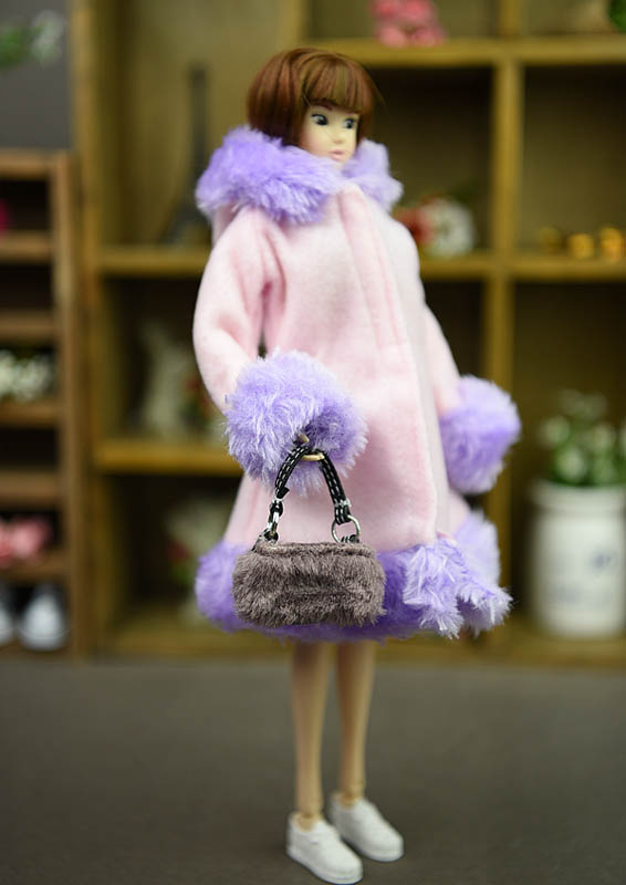 Doll Accessories Winter Wear Warm Coat For Barbie Dolls Fur Doll Clothing Dress Clothes For Barbie 1/6 BJD Doll Kids Toy 4