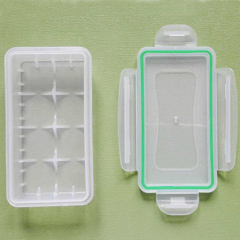 High Quali 1pc/2pcs/4pcs Clear Plastic Waterproof Battery Storage Case Holder Organizer for 18650 16340 Batteries with Case Bag