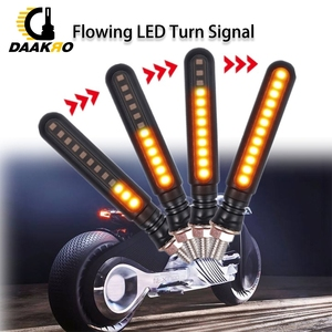 Image 3 - LED Motorcycle Turn Signal Lights Acrylic Single 12 LED Indicator Light Turn Signal DC 12V Yellow Flowing Water OPP Bag