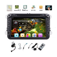 Pure 2DIN Android 4 2 Car CD DVD Player For Volkswagen 8 Steering Wheel Control Canbus