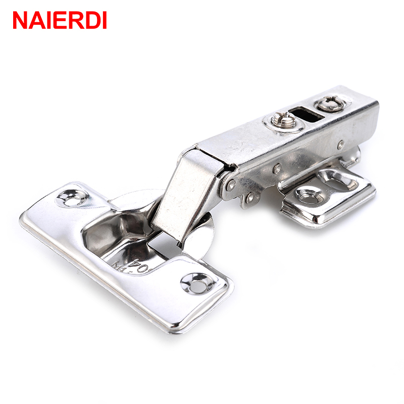 NAIERDI C Series Hinge Stainless Steel Door Hydraulic Hinges Damper Buffer Soft Close For Cabinet Cupboard Furniture Hardware 2pcs 90 degree concealed hinges cabinet cupboard furniture hinges bridge shaped door hinge with screws diy hardware tools mayitr
