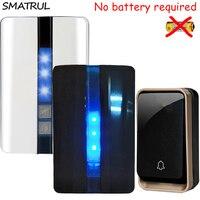 SMATRUL Self Powered Waterproof Wireless Door Bell No Battery EU Plug Smart DoorBell 1 Button 2