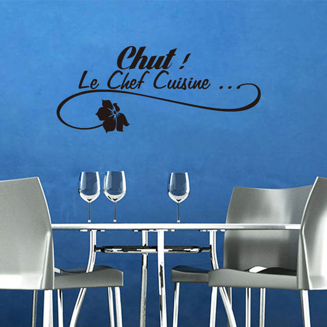 Us 4 99 French Le Chef Cuisine Removable Vinyl Wall Sticker Decals Mural Art Wallpaper For Kitchen Home Decor House Decoration In Stickers