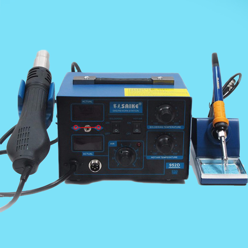 Saike 952D 220V / 110V Standard rework station Hot air gun Soldering iron 2 in 1 High qualit Soldering station replace hakko936 underwater 100m 30000lm diving light 12 xml l2 led diving scuba flashlight torch 3x26650 battery charger