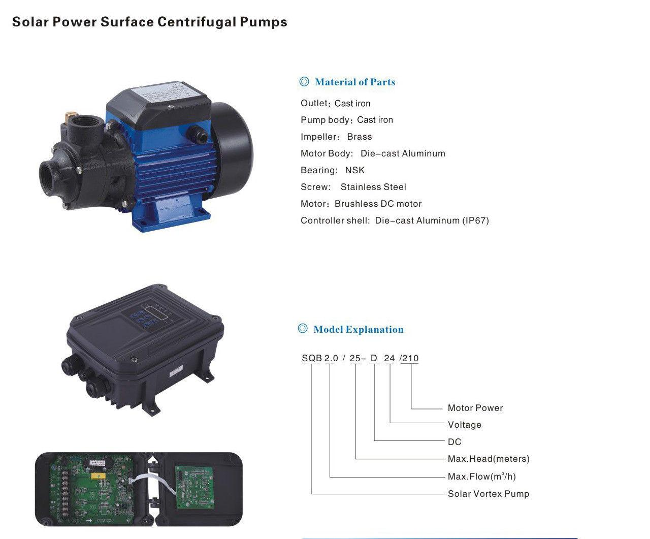 Solar Surface Water Pump 24V DC controller river pond lake,Max. head :25m /82ft кабель usb2 0 тип а m minib 5p 0 5м